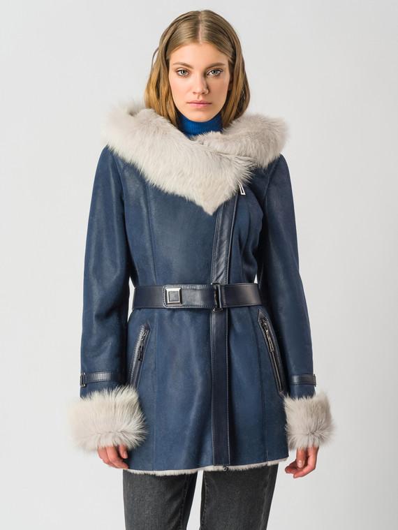Дубленка дуб. овчина, цвет синий, арт. 15006112  - цена 37990 руб.  - магазин TOTOGROUP