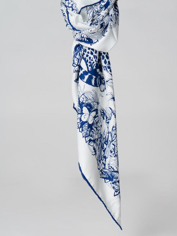 Шарф 100% шелк, цвет синий, арт. 15006117  - цена 990 руб.  - магазин TOTOGROUP