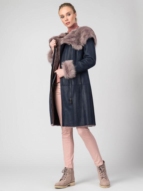 Дубленка дуб. овчина, цвет темно-синий, арт. 15006164  - цена 37990 руб.  - магазин TOTOGROUP