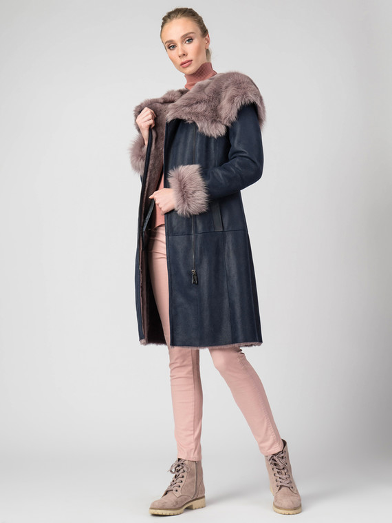 Дубленка дуб. овчина, цвет темно-синий, арт. 15006164  - цена 26990 руб.  - магазин TOTOGROUP