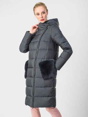 Пуховик текстиль, цвет темно-серый, арт. 15006199  - цена 8990 руб.  - магазин TOTOGROUP