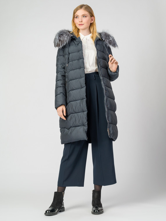 Пуховик текстиль, цвет синий, арт. 15006254  - цена 12690 руб.  - магазин TOTOGROUP