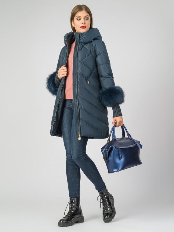 Пуховик текстиль, цвет синий, арт. 15006301  - цена 13390 руб.  - магазин TOTOGROUP