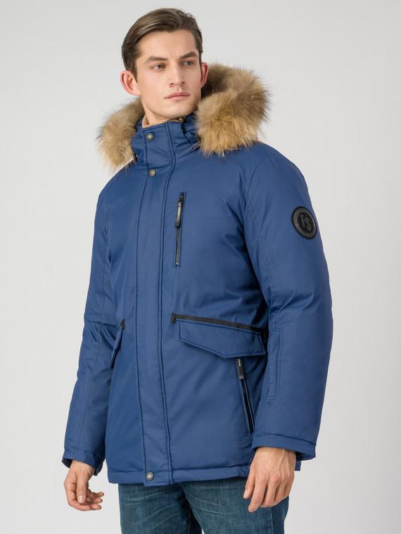 Пуховик текстиль, цвет синий, арт. 15006510  - цена 7990 руб.  - магазин TOTOGROUP