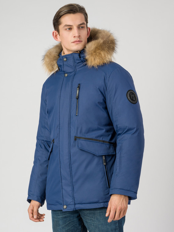 Пуховик текстиль, цвет синий, арт. 15006510  - цена 6990 руб.  - магазин TOTOGROUP