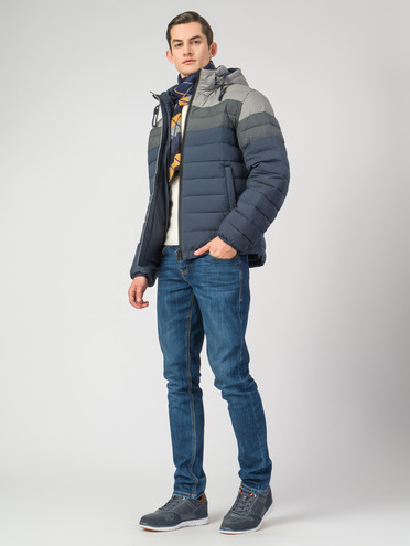 Пуховик текстиль, цвет синий, арт. 15006514  - цена 5890 руб.  - магазин TOTOGROUP