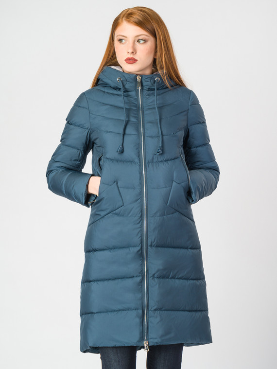 Пуховик текстиль, цвет синий, арт. 15006523  - цена 8990 руб.  - магазин TOTOGROUP