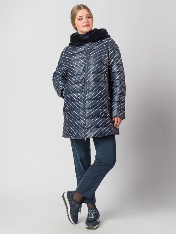 Пуховик текстиль, цвет синий, арт. 15006556  - цена 9490 руб.  - магазин TOTOGROUP