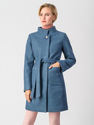 Текстильное пальто 30%шерсть, 70% п\а, цвет синий, арт. 15006610  - цена 7490 руб.  - магазин TOTOGROUP