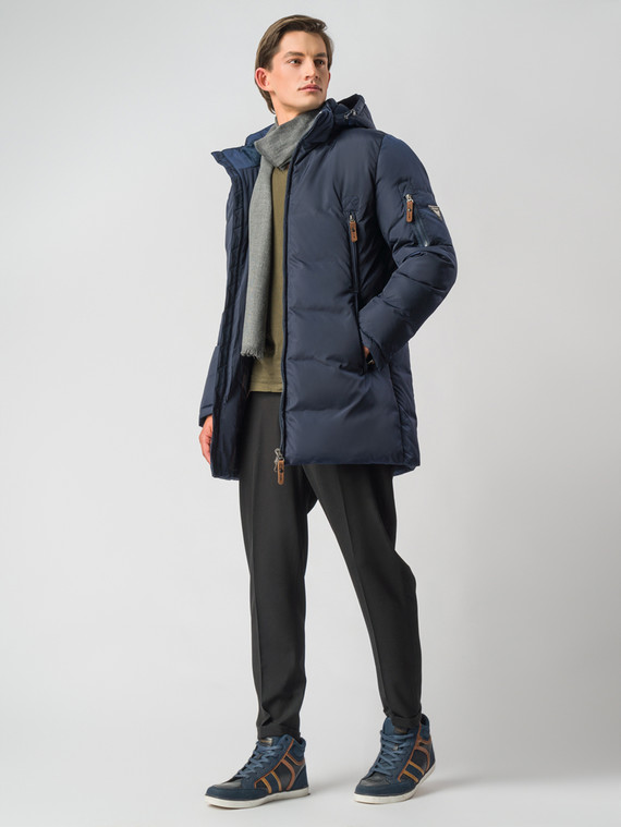 Пуховик текстиль, цвет синий, арт. 15006738  - цена 7490 руб.  - магазин TOTOGROUP