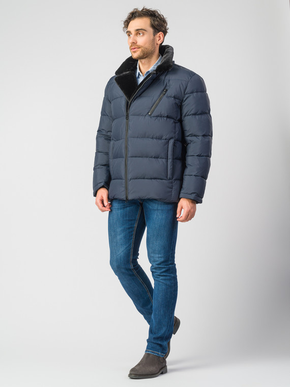 Пуховик текстиль, цвет синий, арт. 15006750  - цена 6290 руб.  - магазин TOTOGROUP