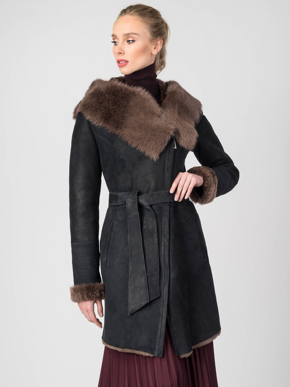 Дубленка дуб. овчина, цвет черный, арт. 15006762  - цена 23990 руб.  - магазин TOTOGROUP