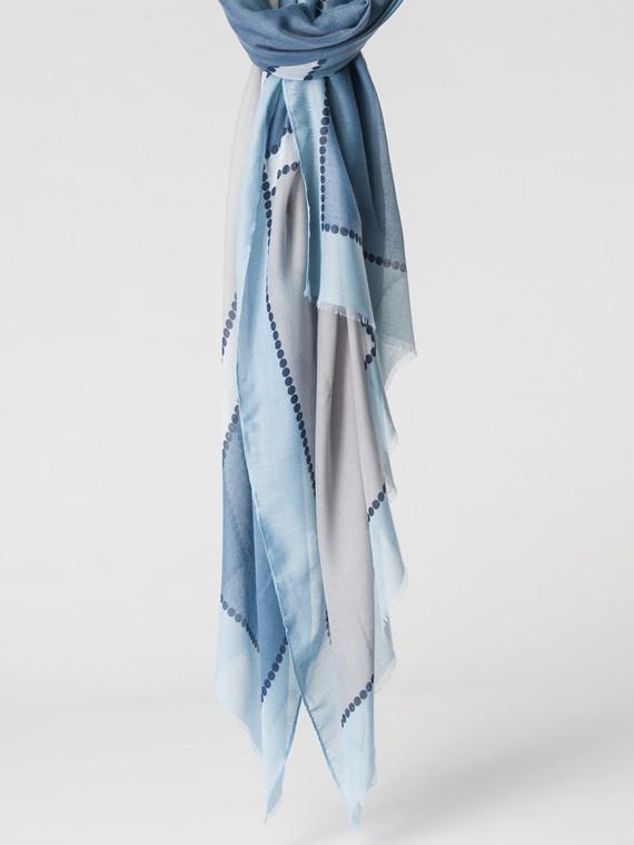 Шарф 100% вискоза, цвет синий, арт. 15007158  - цена 940 руб.  - магазин TOTOGROUP