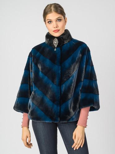 Шуба из эко-меха эко мех, цвет синий, арт. 15007195  - цена 6630 руб.  - магазин TOTOGROUP