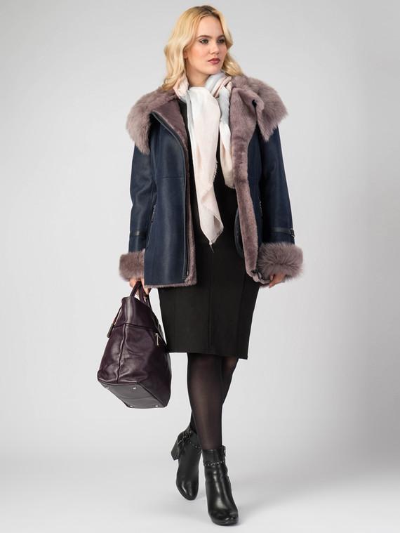 Дубленка дуб. овчина, цвет темно-синий, арт. 15007235  - цена 25590 руб.  - магазин TOTOGROUP