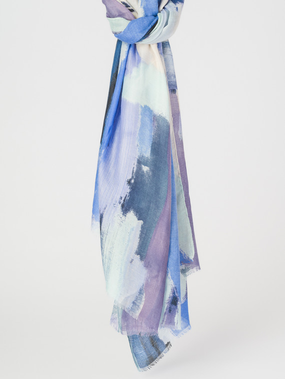 Шарф 30%бамбук,70%хлопок, цвет синий, арт. 15007681  - цена 890 руб.  - магазин TOTOGROUP
