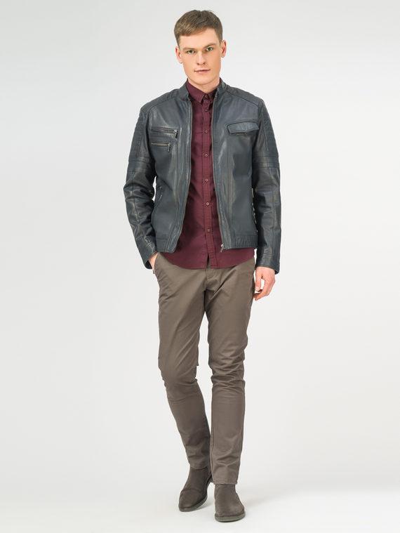 Кожаная куртка кожа , цвет синий, арт. 15106169  - цена 11990 руб.  - магазин TOTOGROUP
