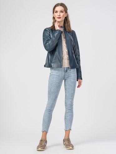 Кожаная куртка кожа , цвет синий, арт. 15106209  - цена 9490 руб.  - магазин TOTOGROUP