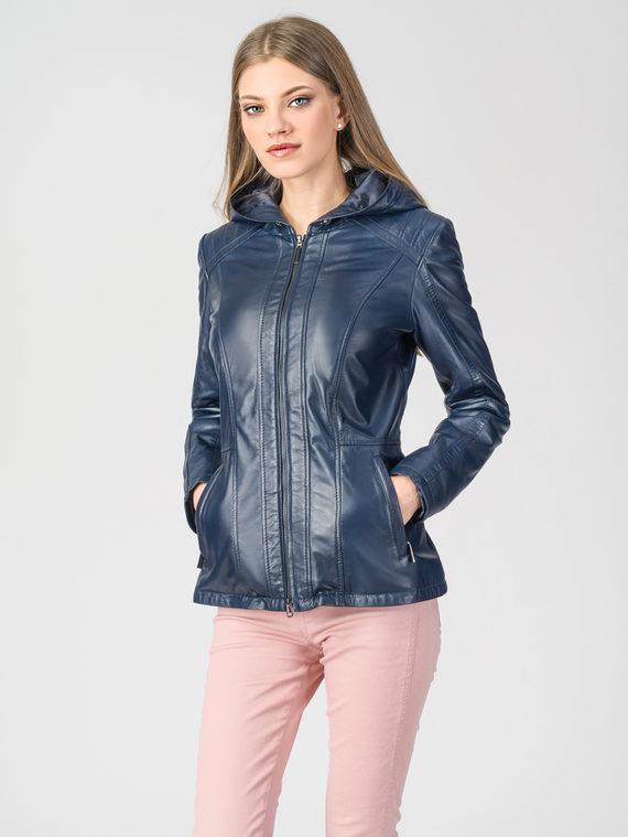 Кожаная куртка кожа , цвет синий, арт. 15106257  - цена 10590 руб.  - магазин TOTOGROUP