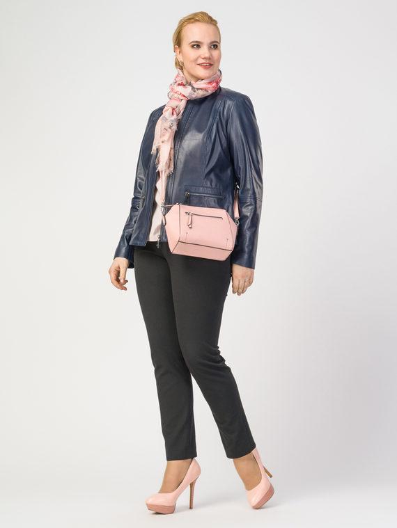 Кожаная куртка кожа , цвет темно-синий, арт. 15106285  - цена 9990 руб.  - магазин TOTOGROUP