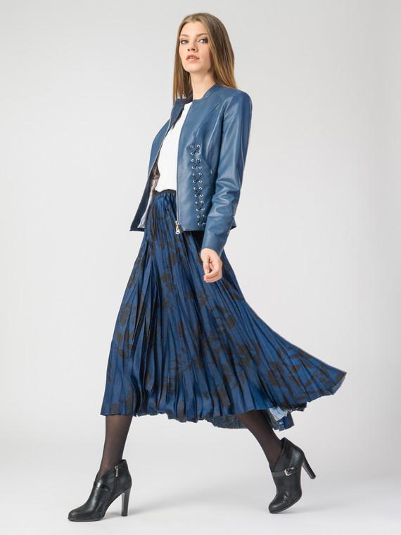 Кожаная куртка кожа , цвет синий, арт. 15107772  - цена 11290 руб.  - магазин TOTOGROUP