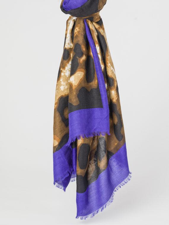 Шарф 100% хлопок, цвет синий, арт. 15107788  - цена 790 руб.  - магазин TOTOGROUP