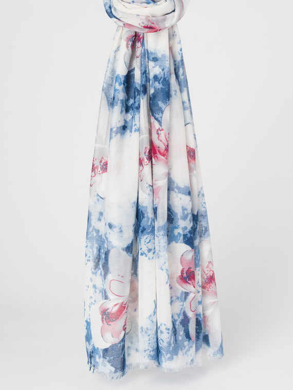 Шарф 50%хлопок,50%вискоза, цвет синий, арт. 15107798  - цена 790 руб.  - магазин TOTOGROUP