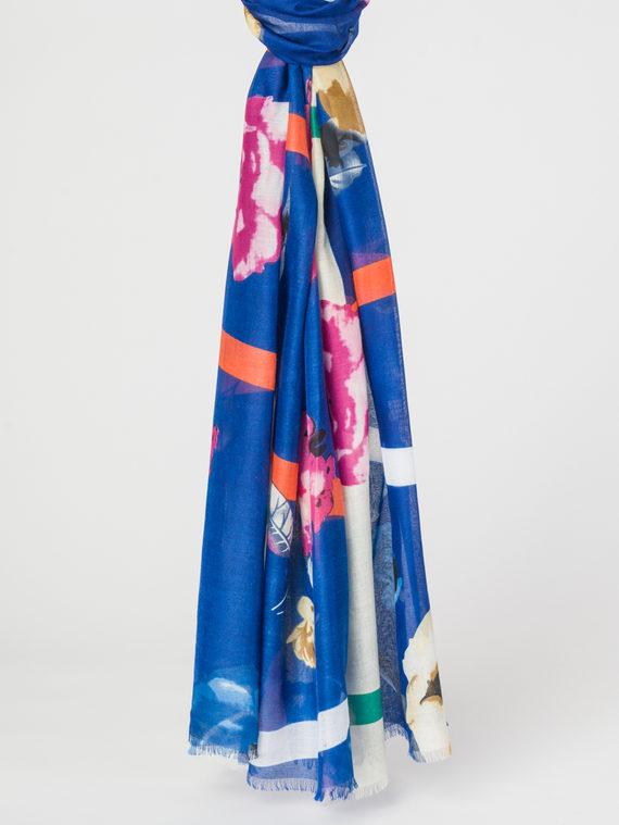 Шарф 50%хлопок,50%вискоза, цвет синий, арт. 15107799  - цена 890 руб.  - магазин TOTOGROUP