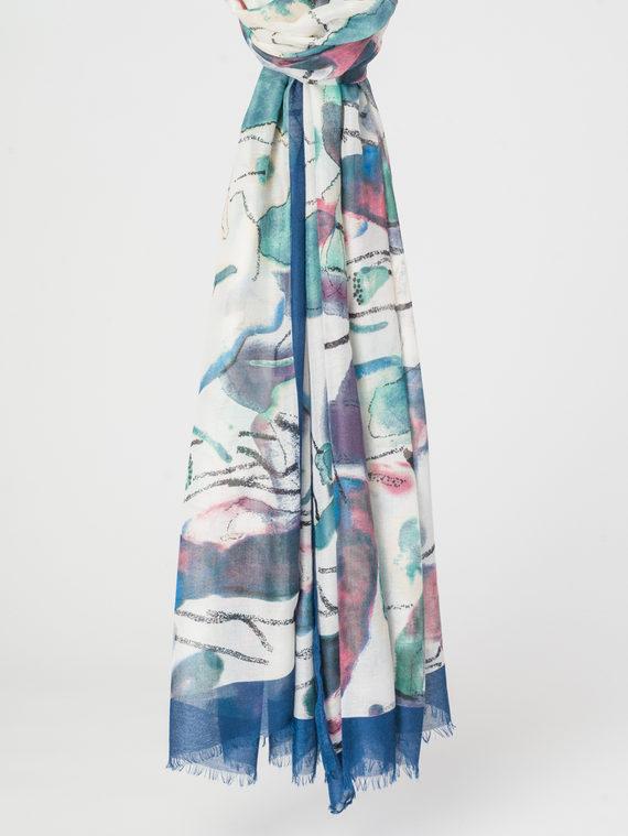 Шарф 50%хлопок,50%вискоза, цвет синий, арт. 15107800  - цена 890 руб.  - магазин TOTOGROUP