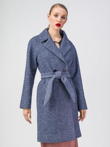 Текстильное пальто 30%шерсть, 70% п.э, цвет синий, арт. 15107820  - цена 5590 руб.  - магазин TOTOGROUP