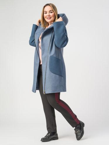 Текстильное пальто 30%шерсть, 70% п.э, цвет голубой, арт. 15107822  - цена 6290 руб.  - магазин TOTOGROUP