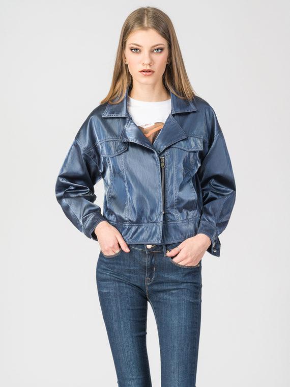 Кожаная куртка эко-кожа 100% П/А, цвет синий, арт. 15107834  - цена 4990 руб.  - магазин TOTOGROUP