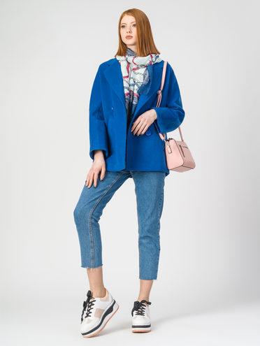 Текстильная куртка 30%шерсть, 70% п.э, цвет синий, арт. 15107900  - цена 3990 руб.  - магазин TOTOGROUP