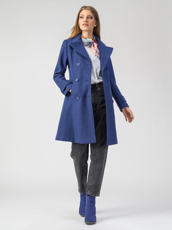 Текстильное пальто 30%шерсть, 70% п.э, цвет синий, арт. 15107919  - цена 3990 руб.  - магазин TOTOGROUP