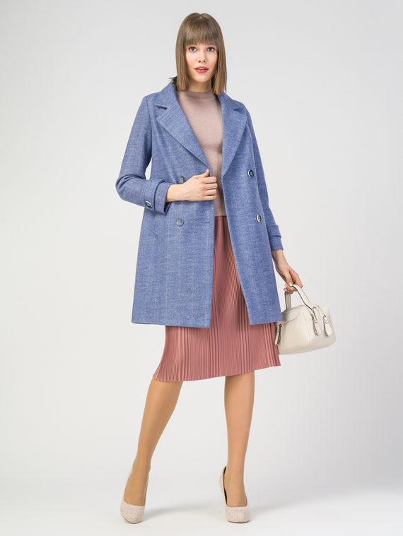 Текстильное пальто 30%шерсть, 70% п.э, цвет синий, арт. 15108192  - цена 5590 руб.  - магазин TOTOGROUP