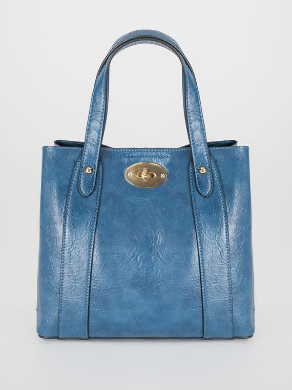 Сумка эко-кожа 100% П/А, цвет синий, арт. 15108245  - цена 2840 руб.  - магазин TOTOGROUP