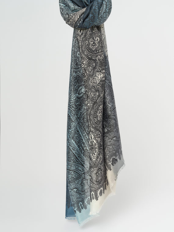 Шарф 100% вискоза, цвет синий, арт. 15108308  - цена 940 руб.  - магазин TOTOGROUP