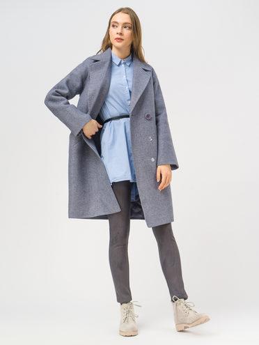 Текстильное пальто 35% шерсть, 65% полиэстер, цвет синий, арт. 15109086  - цена 4740 руб.  - магазин TOTOGROUP