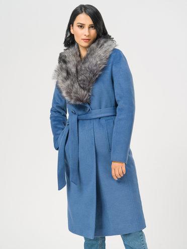 Текстильное пальто 35% шерсть, 65% полиэстер, цвет синий, арт. 15109097  - цена 5890 руб.  - магазин TOTOGROUP