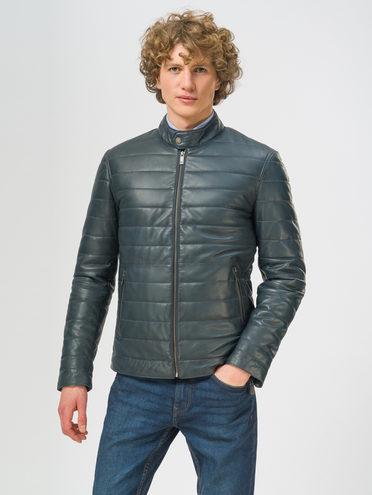 Кожаная куртка кожа, цвет синий, арт. 15109530  - цена 18990 руб.  - магазин TOTOGROUP