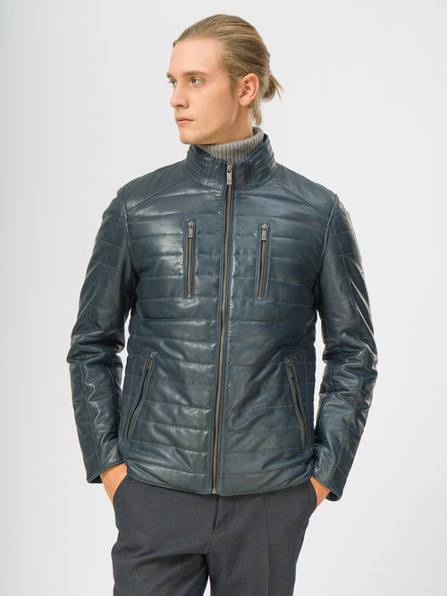 Кожаная куртка артикул 15109531/50 - фото 2