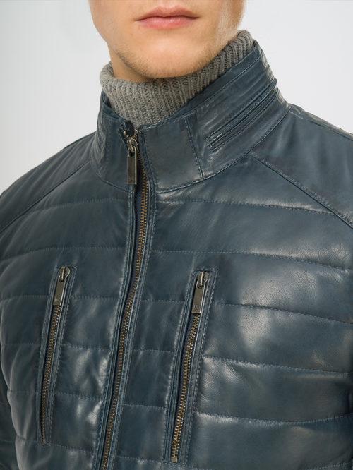 Кожаная куртка артикул 15109531/50 - фото 4