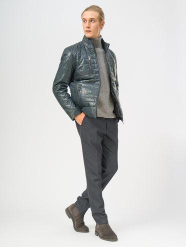 Кожаная куртка кожа, цвет синий, арт. 15109531  - цена 18990 руб.  - магазин TOTOGROUP