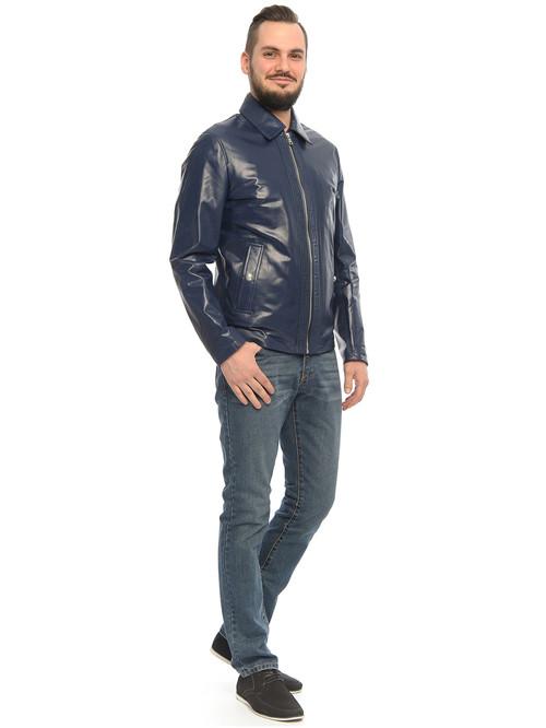 Кожаная куртка артикул 15500463/46 - фото 3