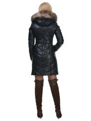 Кожаное пальто артикул 15602183/42 - фото 4