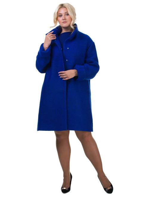 Текстильное пальто артикул 15602436/46 - фото 4