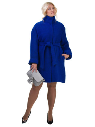 Текстильное пальто 70%шерсть,30%п,а, цвет синий, арт. 15602436  - цена 11990 руб.  - магазин TOTOGROUP