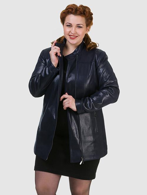 Кожаная куртка артикул 15700169/46 - фото 4