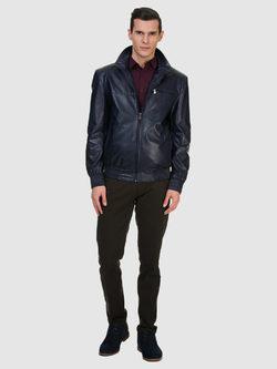 Кожаная куртка эко кожа 100% П/А, цвет синий, арт. 15700200  - цена 5990 руб.  - магазин TOTOGROUP