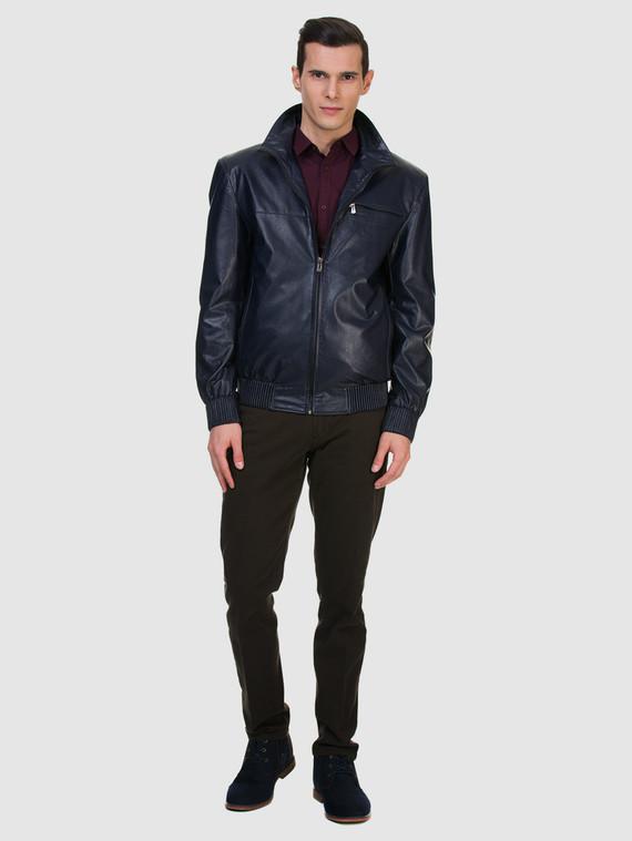 Кожаная куртка эко кожа 100% П/А, цвет синий, арт. 15700200  - цена 5890 руб.  - магазин TOTOGROUP